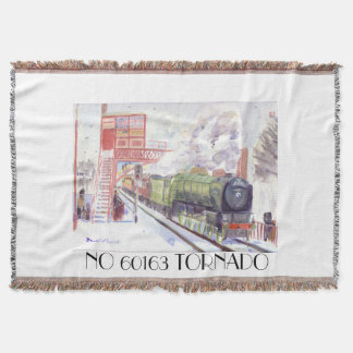 Peppercorn class A1 No 60163 Tornado throw blanket