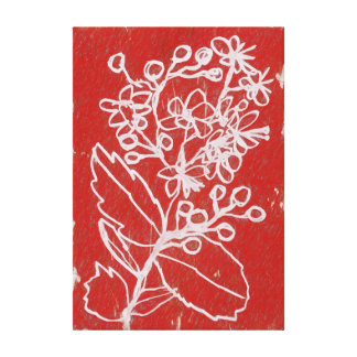 Peppermint Blooms Canvas Print