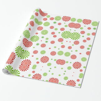 Peppermint Burst Wrapping Paper