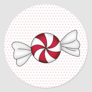 Peppermint Candies Classic Round Sticker