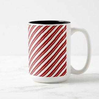 Peppermint Candy Cane Striped Print Coffee Mug