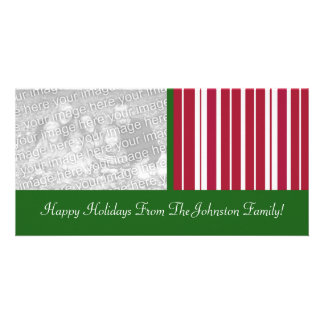 Peppermint Candy Cane Stripes Holiday Photo Cards