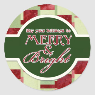 Peppermint Candy Christmas Modern Ornaments Classic Round Sticker