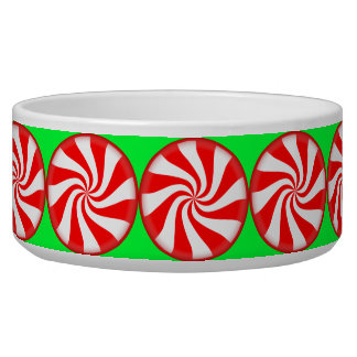 Peppermint Candy Dog Bowl