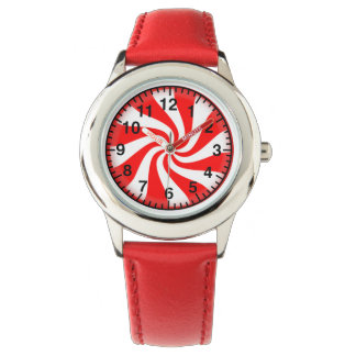 Peppermint Candy Girls Watch with Hearts