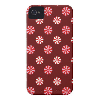 Peppermint Candy Holiday Blackberry Case - Red