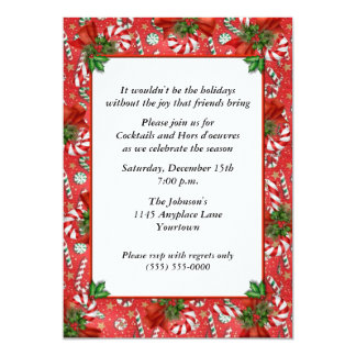 Peppermint Candy Holiday Party Invitation