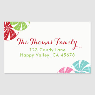 Peppermint Candy in Bright Colors Address Label