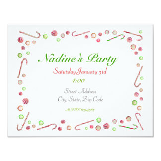 Peppermint Candy Invitation