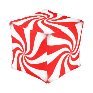 Peppermint Candy Pouf