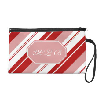 Peppermint Candy Stripe Wristlets
