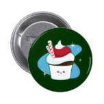 Peppermint Cupcake 2 Inch Round Button