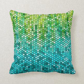 Peppermint Garden Mosaic Throw Pillow