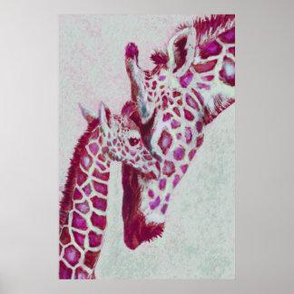 peppermint giraffes poster