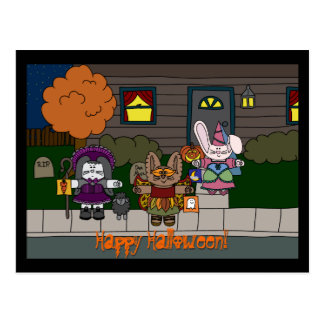 Peppermint Hollow Arrangeable Halloween Postcard