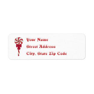 Peppermint Lollipops Address Labels