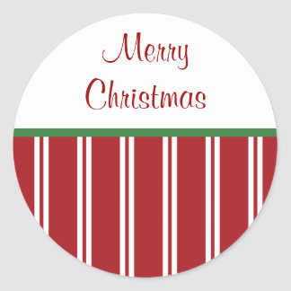 Peppermint Merry Christmas Stickers