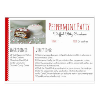 Peppermint Patty Stuffed Ritz Crackers ( Custom ) Postcard