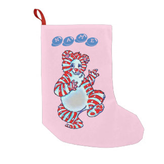Peppermint Polar Bear Small Christmas Stocking