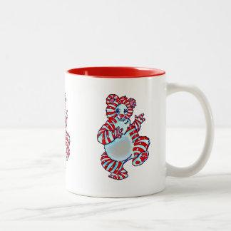 Peppermint Polar Bear Two-Tone Coffee Mug