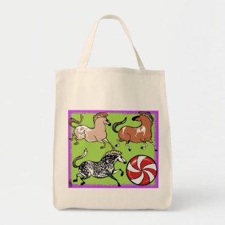 Peppermint Pony Grocery Tote Bag