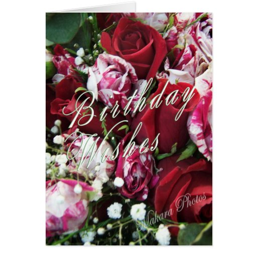 Peppermint Roses Bday card
