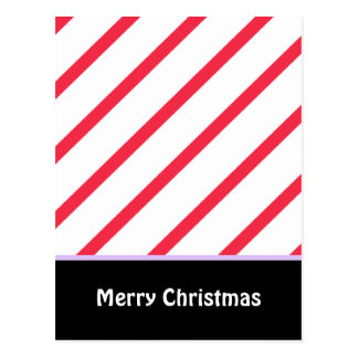Peppermint Stripes Postcard