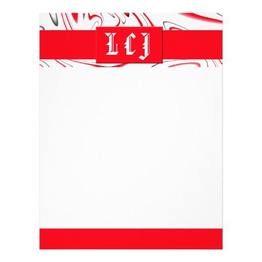 Peppermint Swirl-Customizable Color Letterhead Template