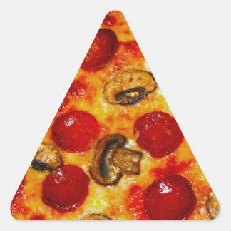 Pepperoni and Mushroom Pizza Triangle Sticker