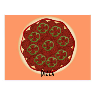 Pepperoni and Peppers Pizza Recipe Card