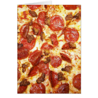 Pepperoni and Sausage Pizza Lover Card