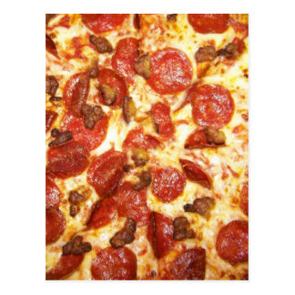 Pepperoni and Sausage Pizza Lover Postcard