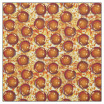 Pepperoni Cheese Pizza Pattern Fabric