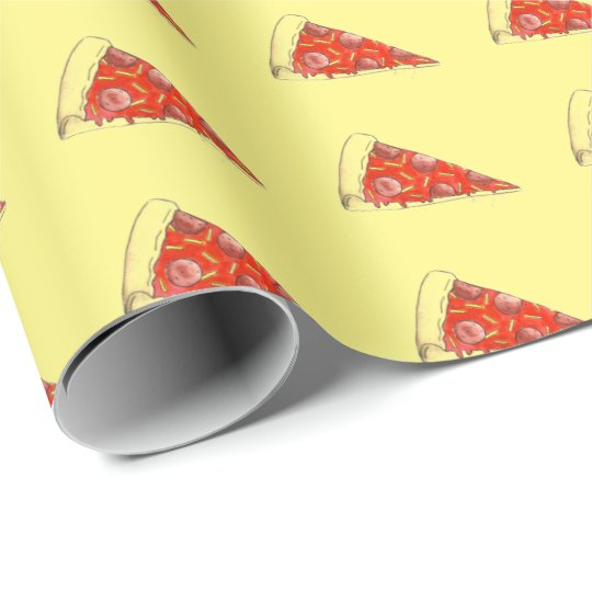Pepperoni Cheese Pizza Slice Food Gift Wrap