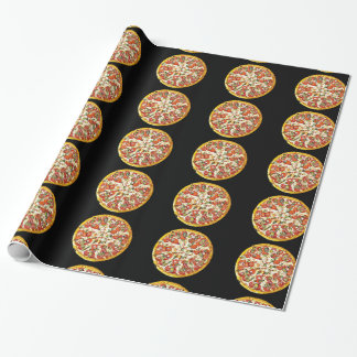 Pepperoni Pizza Black Tablecloth Gift Wrap