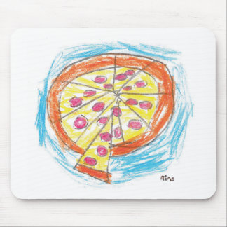 Pepperoni_Pizza_by_Nina_Age_6 Mouse Pad