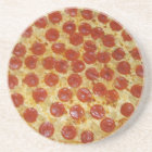 Pepperoni pizza coaster