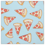 Pepperoni Pizza Drawing Pattern Cotton Fabric