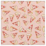 Pepperoni Pizza Drawing Pattern Cotton Fabric