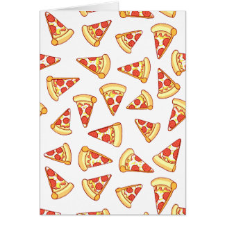 Pepperoni Pizza Drawing Pattern Greeting Card