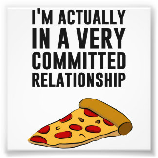 Pepperoni Pizza Love - A Serious Relationship Photo Art