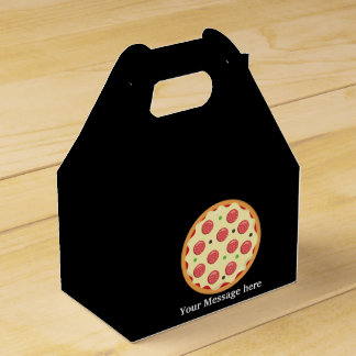 Pepperoni pizza party add message favor box