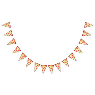 Pepperoni Pizza Party Bunting Flags