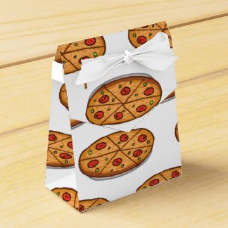 Pepperoni Pizza Pattern; Italian Food Favor Box