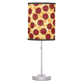 Pepperoni Pizza Pattern Table Lamp