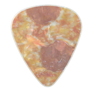 Pepperoni Pizza Pearl Celluloid Guitar Pick