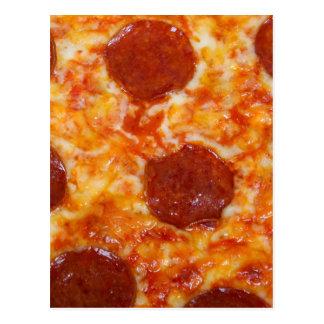Pepperoni Pizza Postcard