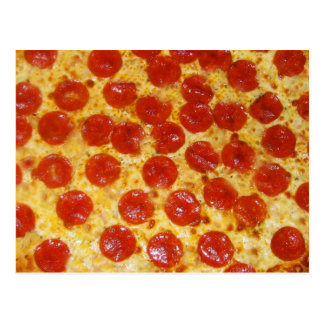 Pepperoni Pizza Postcard