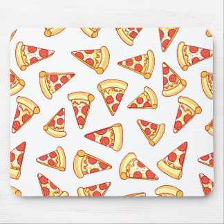 Pepperoni Pizza Slice Drawing Pattern Mouse Pad