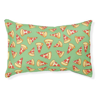 Pepperoni Pizza Slice Drawing Pattern pet bed